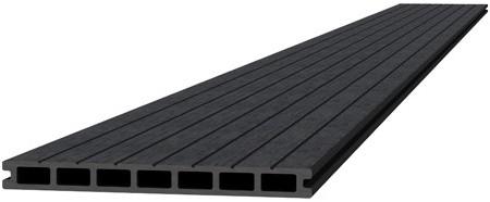 Composiet dekdeel 2,3x25x300cm antraciet (W23480)