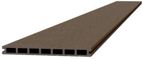 Composiet dekdeel 2,3x25x420cm bruin (W23500)