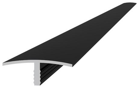 Aluminium overgangsprofiel 4,0x1,8x300cm antraciet (W23535)