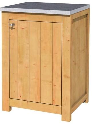 Hillhout douglas enkele buitenkeuken 90x61,5x56cm met schap en deur. (1006138)