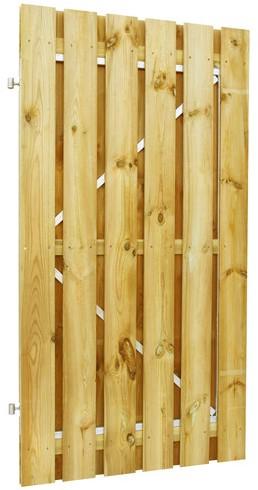 geschaafde plankendeur grenen op verstelbaar stalen frame 100x190cm recht (W07675)