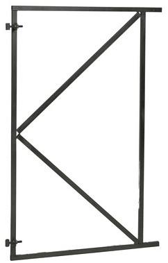 Verstelbaar stalen poortframe 100x155 cm, zwart gecoat. (W07655)