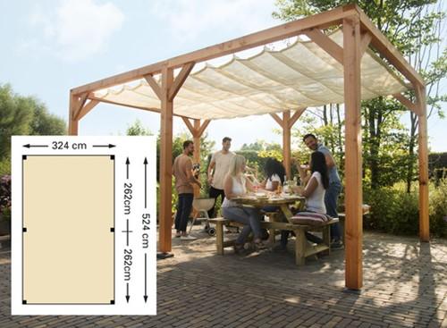 Douglas houtpakket 324x524cm t.b.v. schaduwdoek 290x500cm kleurloos geïmpr. (W12405)
