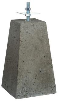 Betonpoer taps 24-15x40cm met verstelbare plaat, grijs (1001202)