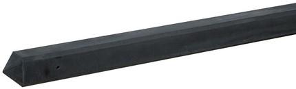 Betonpaal glad met diamantkop 10x10x280cm antraciet ongecoat, eindpaal (W13236)