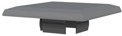 Afdekkap aluminium paal behorend bij het composiet systeem (W23018)