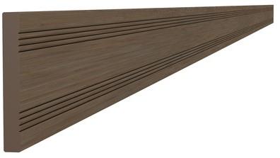 Composiet afdeklat 0,8x6,3x300cm bruin (W23552)