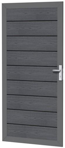 Composiet deur houtmotief 90x183cm antraciet (W23685)