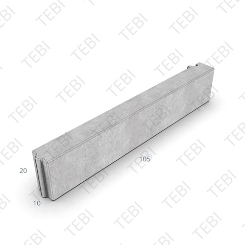Boomrandband 10x20x105,5cm zwart