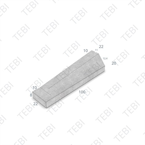 Eindverloopband maaiveld - 11/22x20x100cm grijs
