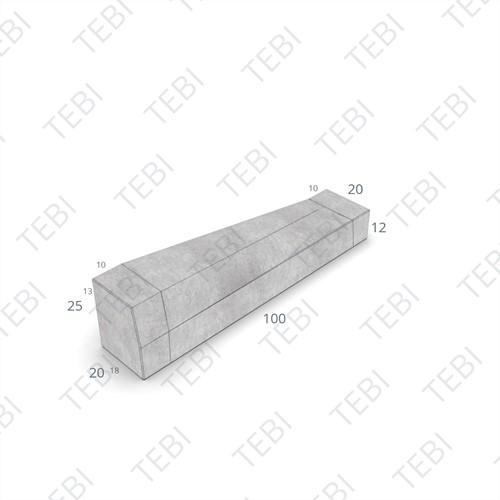 Eindverloopband maaiveld - 18/20x25x100cm grijs