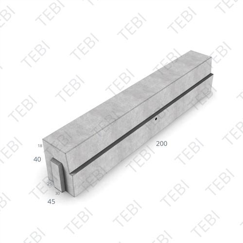 HOV-band 25/30x40x200cm verdekt grijs