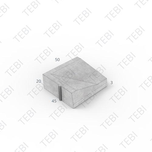 Inritband 45x50x20cm grijs links