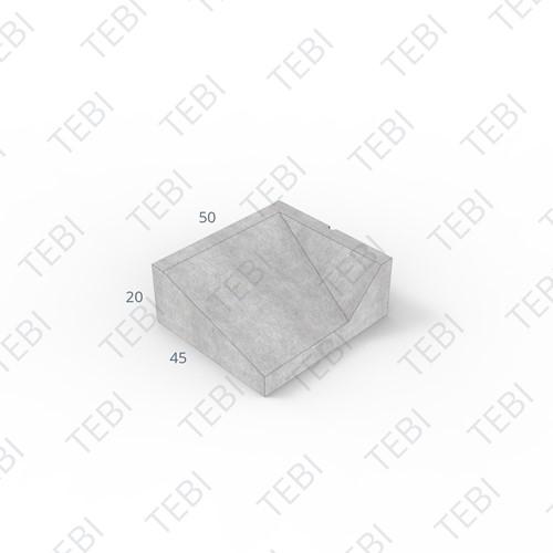 Inritband 45x50x20cm zwart rechts