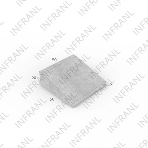 Inritband 50x50x20cm grijs rechts