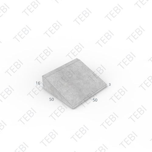 Inritband 50x50x16cm uitgew zwart tussen