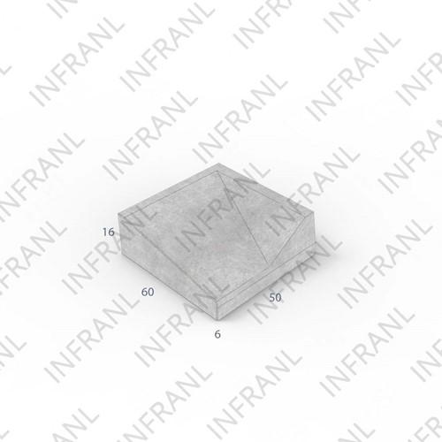 Inritband 60x50x16cm grijs rechts