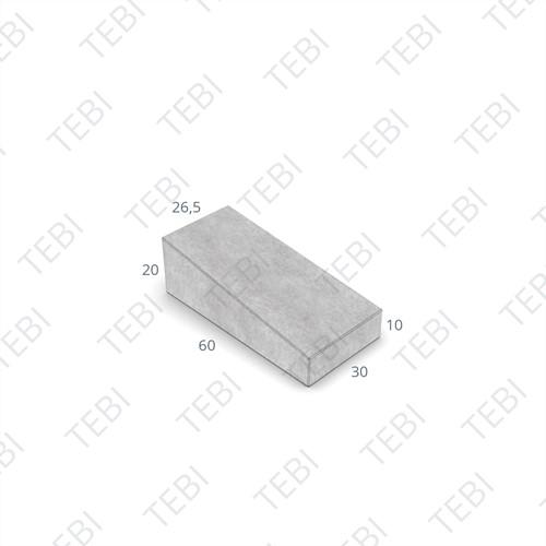 Inritband 60x30x20cm zwart links