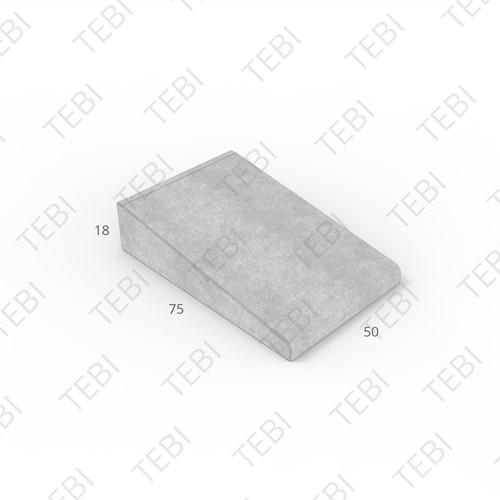 Inritband 75x50x18cm grijs tussen
