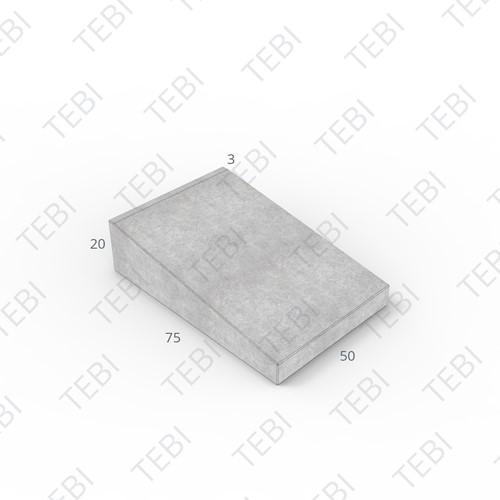 Inritband 75x50x20cm grijs tussen