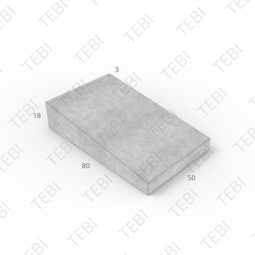 Inritband 80x50x18cm grijs tussen