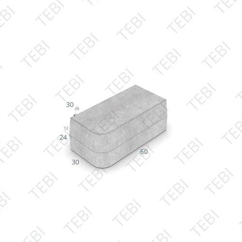 Inritperronband 28/30x24x60cm grijs L