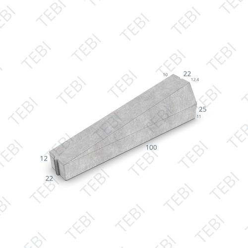 Inritverloopband 11/22x20/14x100cm grijs rechts