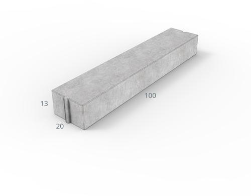 Inritverloopband 18/20x25/13x100cm grijs tussen