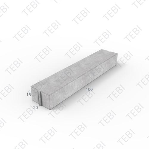 Inritverloopband 18/20x25/15x100cm grijs tussen