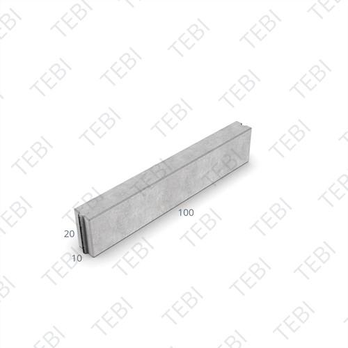 Opsluitband 10x20x100cm uitgew zwart zijkant