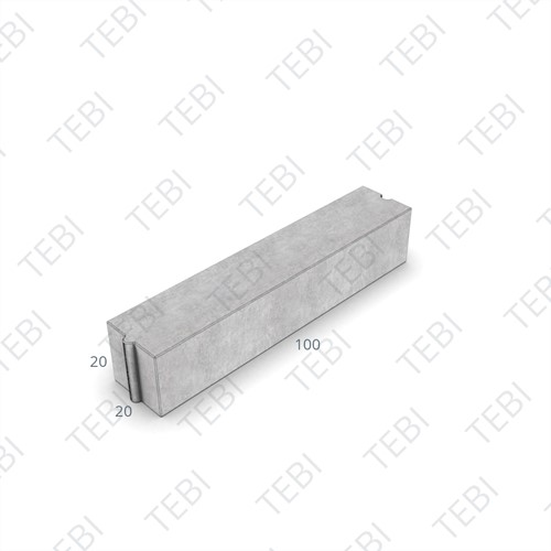 Rabatband 20x20x100cm grijs