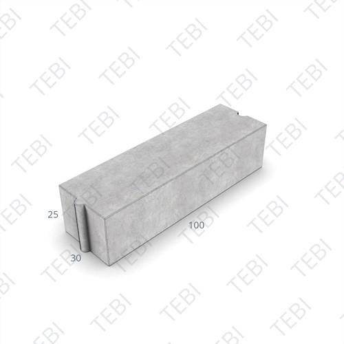 Rabatband 30x25x100cm grijs