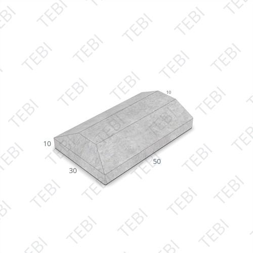 Scheidingsband 10/30x10x50cm grijs eindstuk