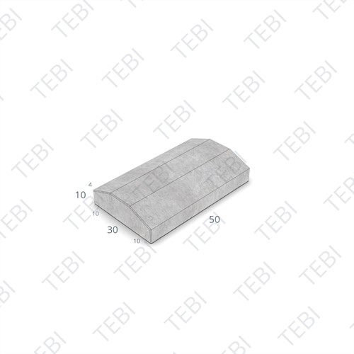 Scheidingsband 10/30x10x50cm grijs middenstuk