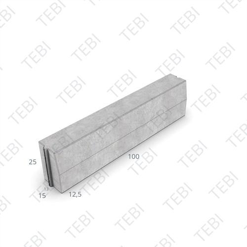 Trottoirband 13/15x25x100cm uitgew. grijs
