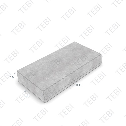 Trottoirband 48/50x16x100cm grijs