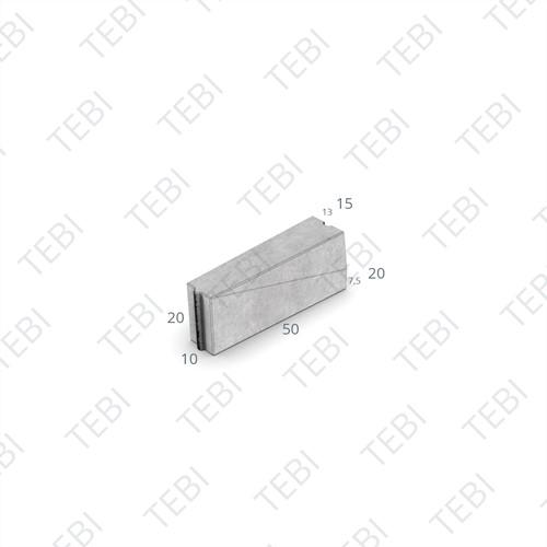 Verloopband 10x20-13/15x20x50cm grijs