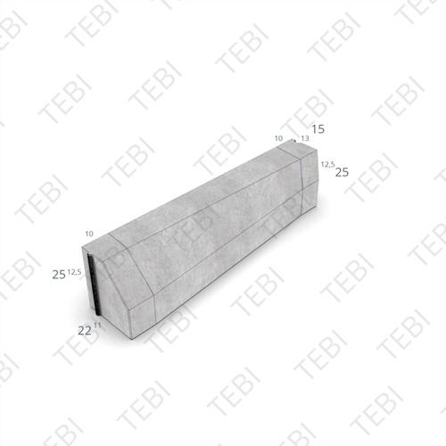 Verloopband 11/22-13/15x25x100cm grijs