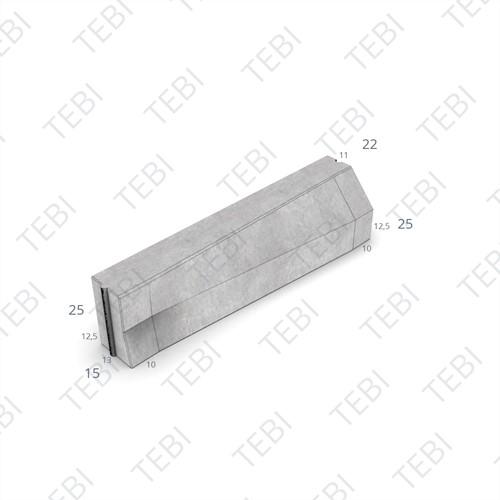 Verloopband 13/15-12x25x100cm grijs