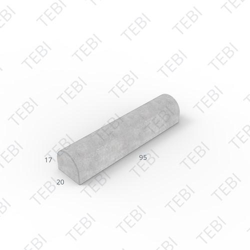 Stootband 17x20x95cm grijs Tussenstuk