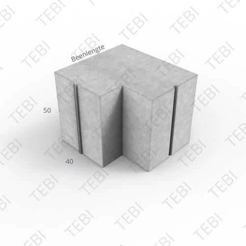 Hoekstuk 40x50cm 90º grijs