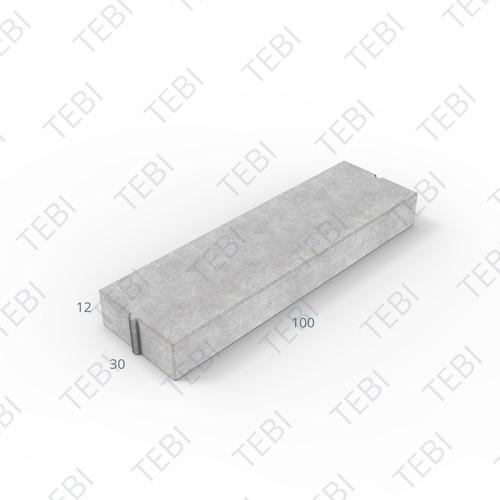 Inritverloopband 28/30x24/12x100cm grijs tussen