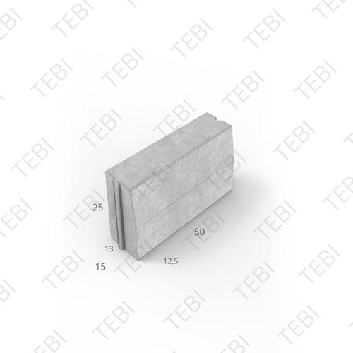 Trottoirband 13/15x25x50cm grijs