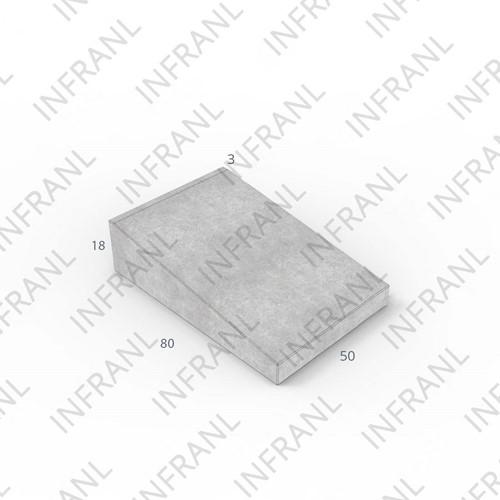 Inritband 80x50x18cm uitgew zwart/groen tussen