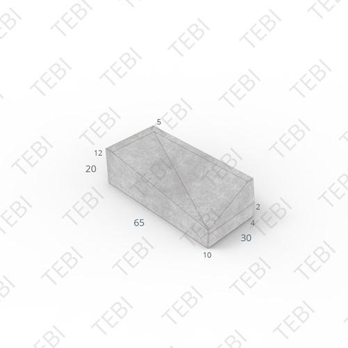 Inritband 65x30x20cm grijs rechts