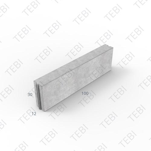 Opsluitband 12x30x100cm grijs