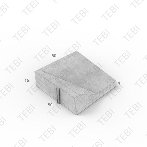 Inritband 50x50x16cm grijs links
