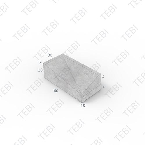Inritband 60x30x20cm uitgew zwart rechts