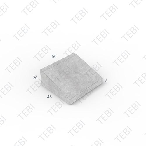 Inritband 45x50x20cm hardsteenkleur tussen
