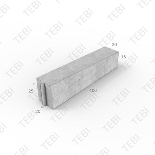Inritverloopband 18/20x25/15x100cm zwart links